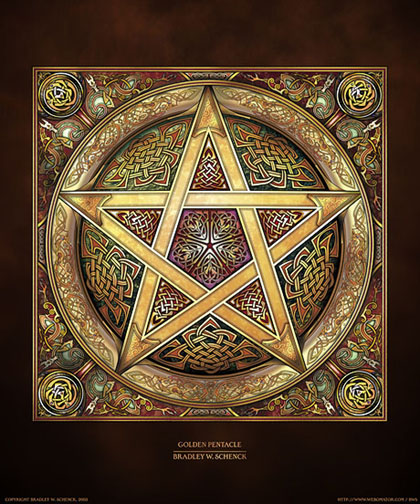 Golden Pentacle Archival Print
