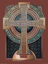 Illuminated Celtic Cross Archival Print