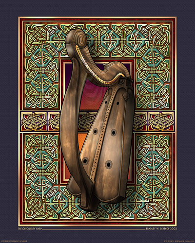 O'ffogerty Harp Archival Print