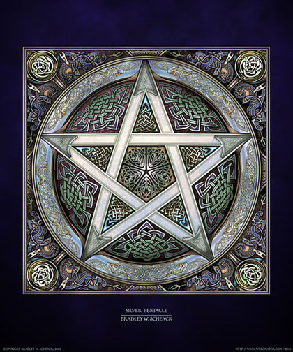 Silver Pentacle Archival Print