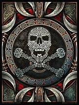 Skull and Crossbones Mandala Archival Print