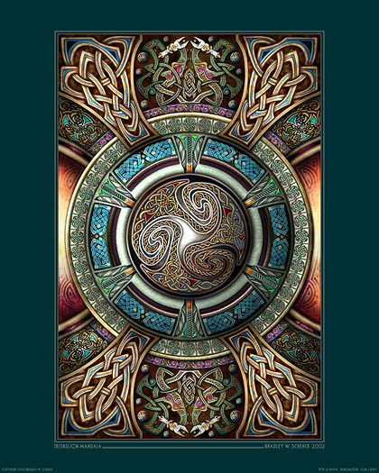 Triskelion Mandala I Archival Print