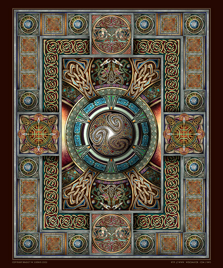 Triskelion Mandala II Archival Print