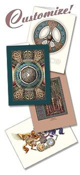 Celtic art greeting cards