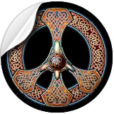 Knotwork Peace Sign Stickers