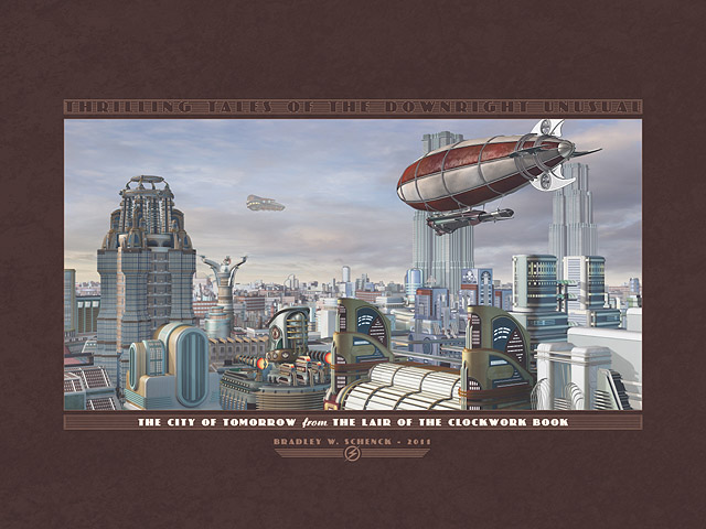Thrilling Tales: The City of Tomorrow Archival Print