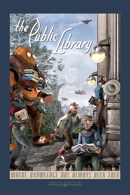 The Public Library (Left Panel) Archival Print